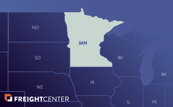 Minnesota freight shipping map