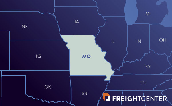 Missouri freight shipping map