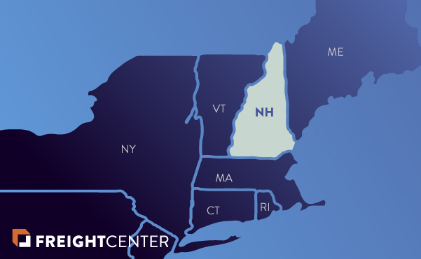 New Hampshire freight shipping map