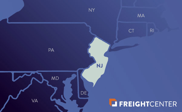 New Jersey freight shipping map