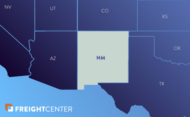 New Mexico freight shipping map