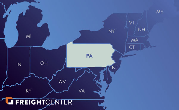 Pennsylvania freight shipping map