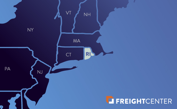 Rhode Island freight shipping map