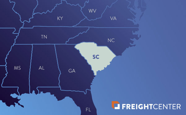 South Carolina freight shipping map