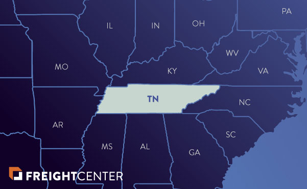 Tennessee freight shipping map