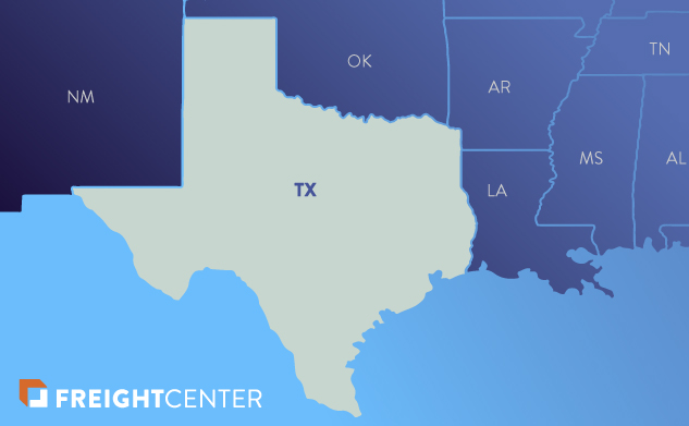 Texas freight shipping map