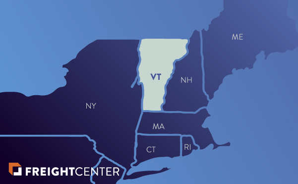 Vermont freight shipping map