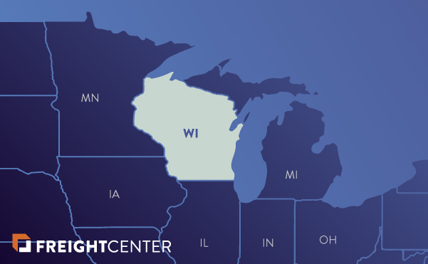Wisconsin freight shipping map