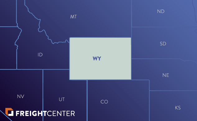 Wyoming freight shipping map