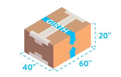 parcel shipping measure girth